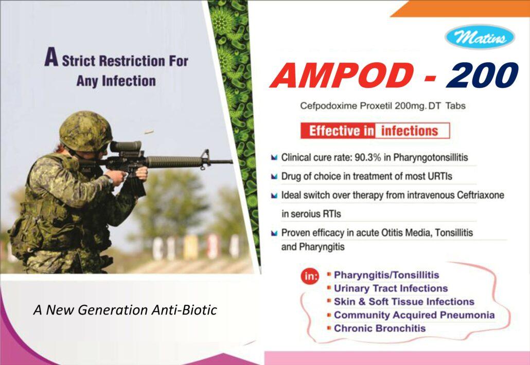 Cefpodoxime 200 mg Tablets Visual Aid Call 9915569932
