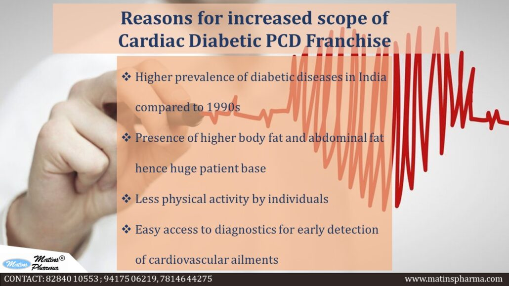 Scope of CARDIAC DIABETIC PRODUCTS FRANCHISE